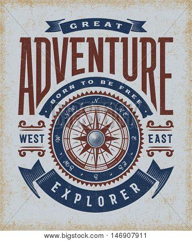 Vintage Great Adventure Typography