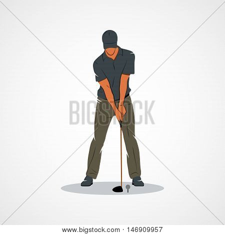Golfer. Branding Identity Corporate vector logo design template Isolated on a white background. Vector illustration.
