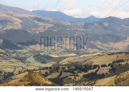 This a view of the valley from cable way station at Quito - Ecuador, this view is from north to south west.