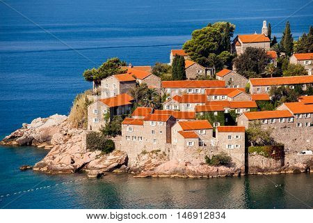 Sveti Stefan or Saint Stefan is a small islet and 5-star hotel resort on the Adriatic coast of Montenegro