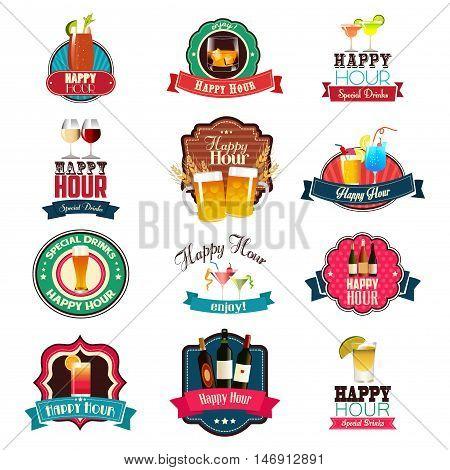 A vector illustration of Happy Hour Designs