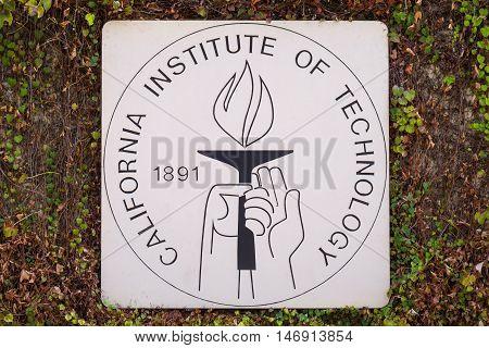 Caltech Entrance Sign