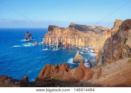 Cliffs At The Ponta De Sao Lourenco, Madeira, Portugal