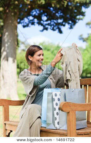 Woman After The Shopping