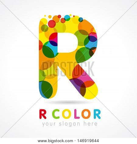 Colored R logo. Letter
