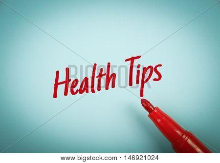 Health Tips Text