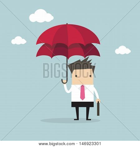 Businessman with double umbrella, Business Concepts vector