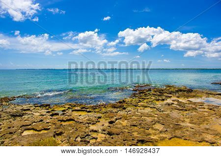 Bay of Pigs, Playa Giron in the southern coast of Cuba