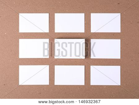 Photo of business cards. Template for branding identity. For graphic designers presentations and portfolios. Branding, brand, template, identity, design, letterhead, Business Card, business, envelope, print, mock-up, mock up, mockup.