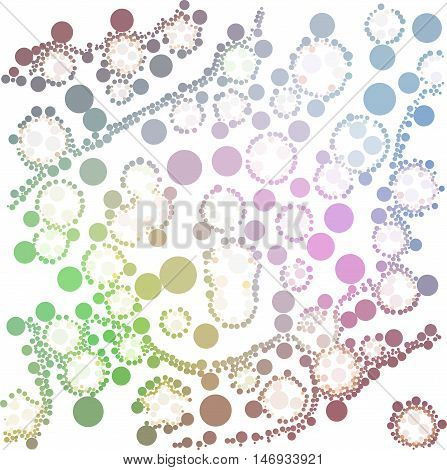 Pink green brown dot on white abstract background