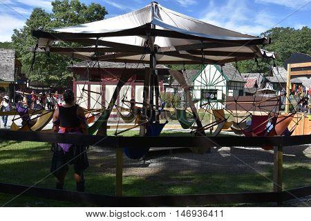 TUXEDO PARK, NY - SEP 11: The 2016 Renaissance Faire in Tuxedo Park, New York State, as seen on Sep 11, 2016. The New York Renaissance Faire was originally created in 1978.