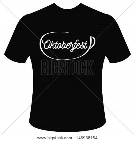T-shirt with logo Oktoberfest, beer festival Munich 2016, vector illustration for print or website design