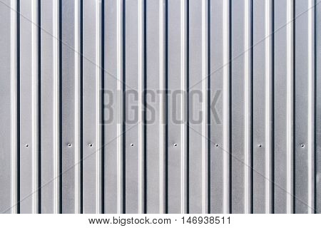Corrugated Grey Fence Steel Siding Background