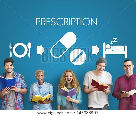 Prescription Medical Health Wellbeing Proper Care Concept