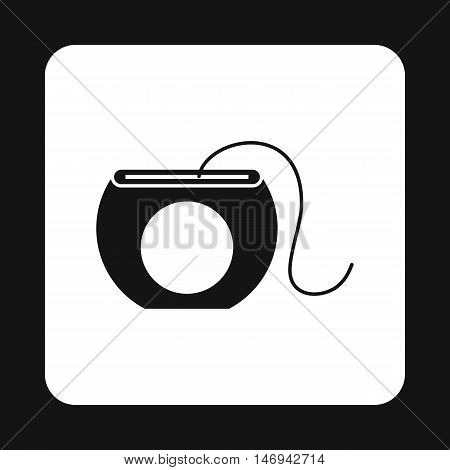 Dental floss icon in simple style isolated on white background vector illustration