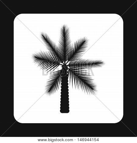 Date palm tree i icon in simple style isolated on white background vector illustration