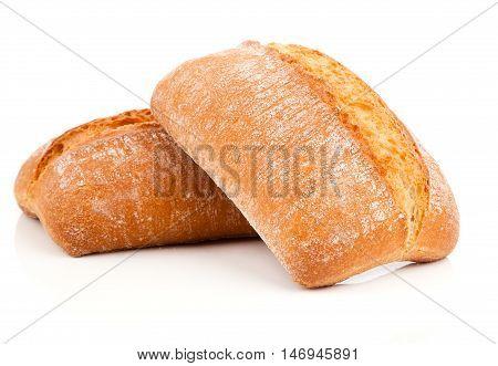 fresh bun isolated on a white background
