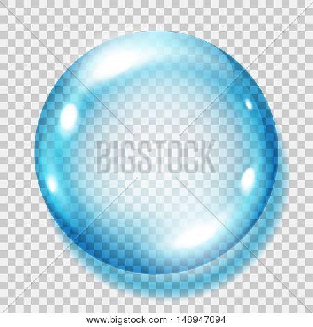 Transparent Light Blue Sphere