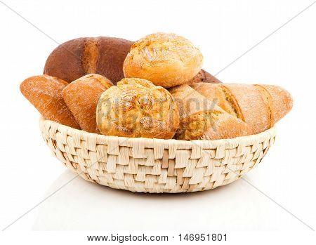 fresh bake bun on a white background