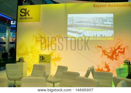 Hannover, Germany - March 5, 2011: Stand Of The Skolkovo In Cebit Computer Expo, Hannover, Germany.