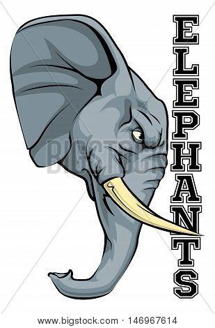 Elephants Mascot
