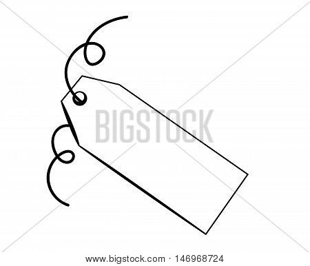 Blank Gift Present Black and White Tag