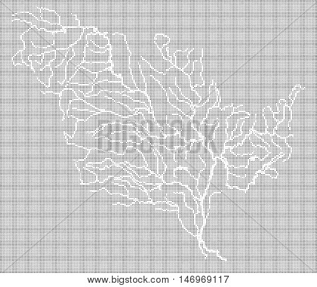Halftone map of the Mississippi River and tributaries