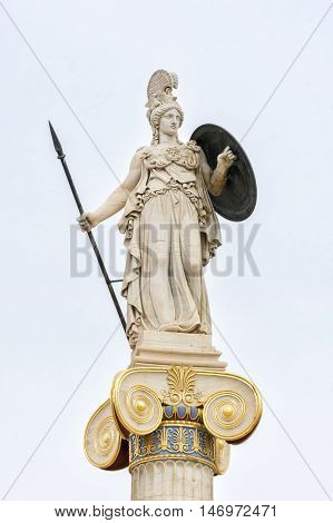 Statue Of Athena at Academy of Athens, Greece