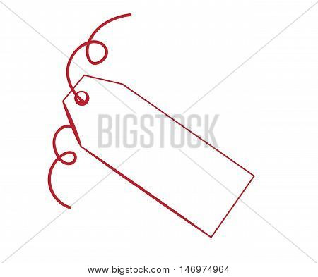 Blank Copy Space Gift Present Red Tag