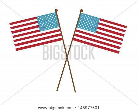 Red White and Blue Stars and Stripes American Flags