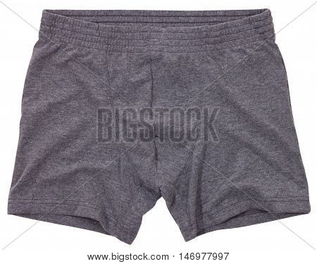 Male underwear isolated on a white background. Clipping paths included.