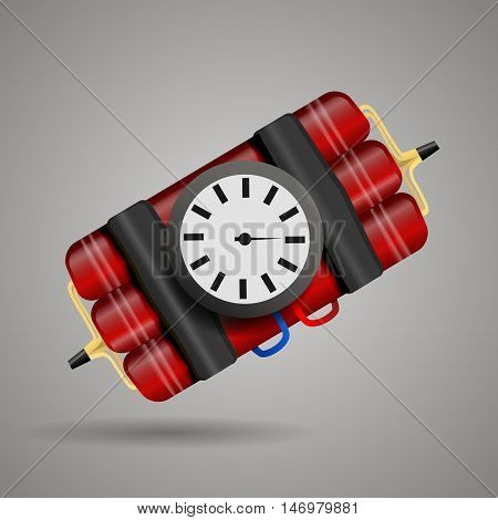 Bomb With Clock Timer  Vector Illustration Eps 10