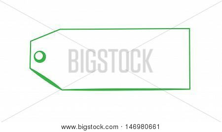 Blank Special Copy Space Green Gift Present Tag