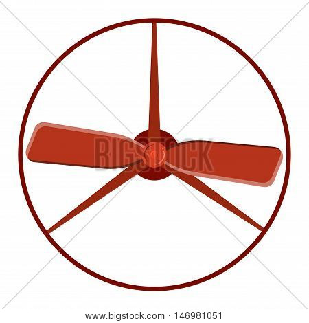 Turbine plane icon propeller fan rotation technology equipment. Fan blade, wind ventilator propeller plane fan equipment. Vector illustration propeller plane turbine vector industrial ventilator