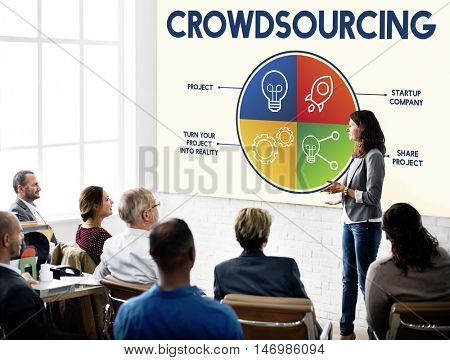 Crowd sourcing Data Business Planning Concept