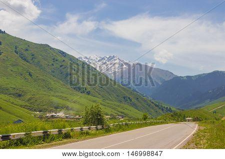 Mountains landscape of the Kaskelen gorge in in the Tien-Shan Mountains Almaty Kazakhstan