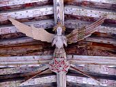 Ancient Carved Wooden Angel  poster