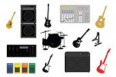 foto of stomp  - musical instruments and electronic studio equipment illustrations - JPG