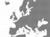 Map Of Europe Grayscale Mozaic poster
