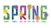 Постер, плакат: Красивый весной буквы алфавита мини набор