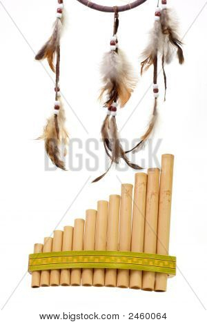 Pan Flute With Dreamcatcher
