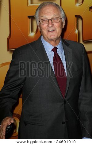 """NEW YORK - OCTOBER 24: Alan Alda attends the premiere of """"Tower Heist"""" at the Ziegfeld Theatre on October 24, 2011 in New York City."""