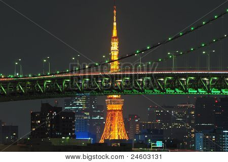 View of Tokyo Tower.