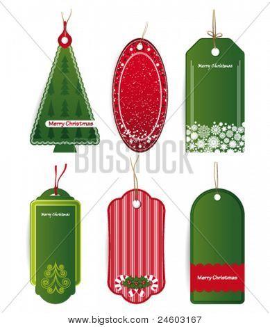 Christmas price tags Vector.