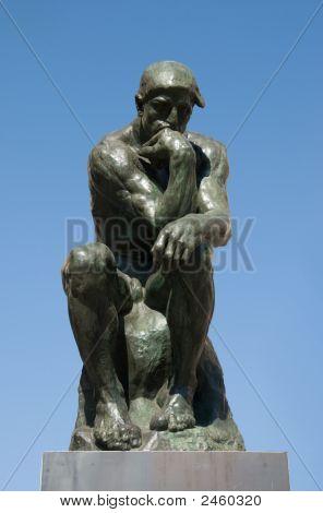 Bronce Sculptire el pensador de Rodin