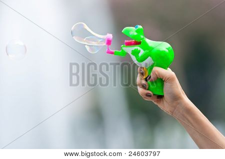 Frog Shape Bubble Gun
