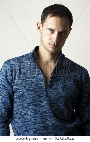 Fashion Portrait Of Young Casual Man
