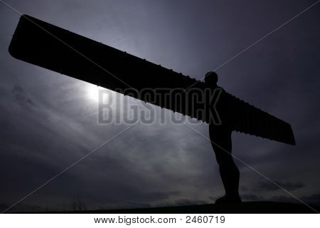 Silhouette Of Angel Of The North