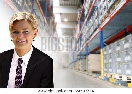 Junge weibliche manager
