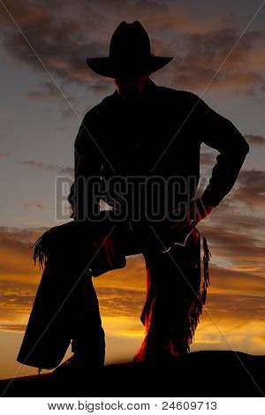 Cowboy Leg Up Silhouette